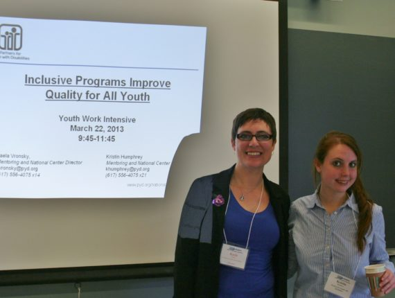 Kaela and Kristin at the Youth Work Intensive