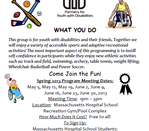 Accessible Sports Program flyer