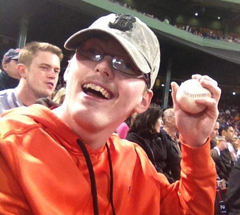 PYD mentee enjoying the Red Sox game