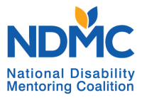 "The intials NDMC overtop the words ""National Disability Mentoring Coalition"""