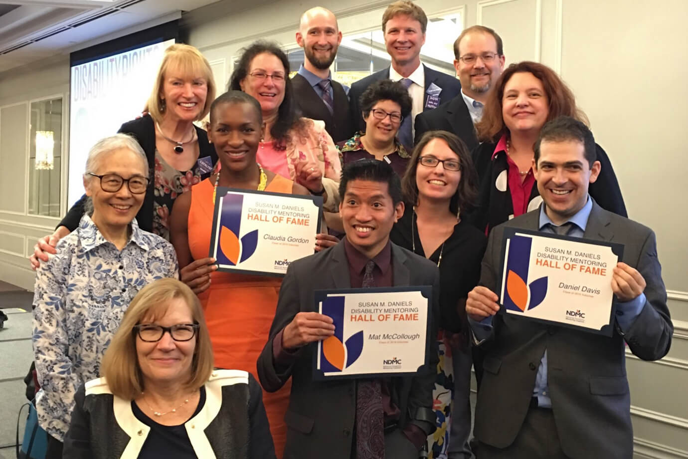 Class of 2016 Inductees celebrate at an AAPD awards event