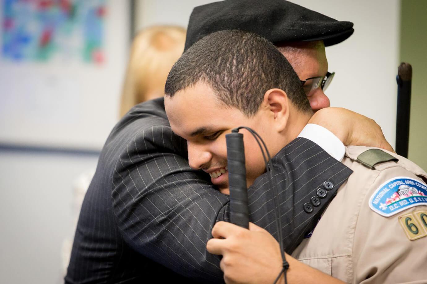 An NDMC paticipant (Leo Cantos) hugging his Dad
