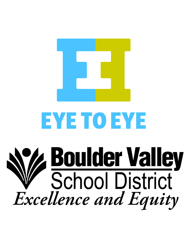 Boulder Valley School District's Eye to Eye Program logos